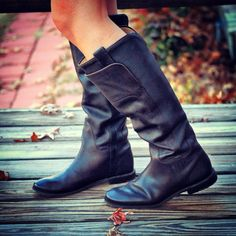 """Frye Paige Tall Riding Boots  Perfect boots for large calves: """"I have thicker calves so I was worried they would be tight, but they are perfect. I have plenty of room for skinny jeans. I also had no problem getting them on and off. These are definitely my favorite boots and I have been wearing them constantly.""""  #widecalfboots #fryeboots #widecalf #fryepaigetallriding"""
