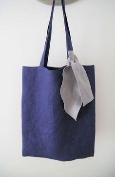 linen tote bag. #linen #totes #linentotebag #totebag #dailybag #shoppingbag #handmade #ribbon #picnicbag #shoulderbag #sewing