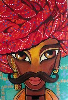 Rajasthani Man Artwork
