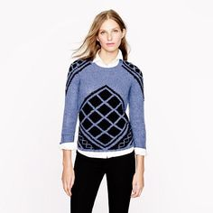 #JCrew Hand knit Tile Sweater #EastwoodPinPals