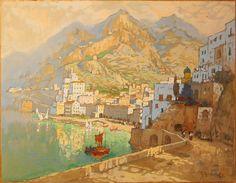 Kонстантин Иванович Горбатов [1876-1945) Russian post-impressionist - Konstantin Gorbatov | 'Capri'