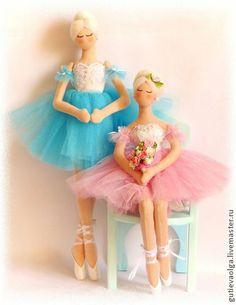 Коллекционные куклы ручной работы. Ярмарка Мастеров - ручная работа Тряпиенса. Балерина в пуантах. Handmade.