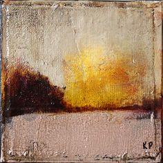 "Abstract Landscape II - 6"" x 6""                             Kris Prunitsch"