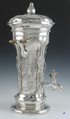 Art Nouveau sterling hot water urn