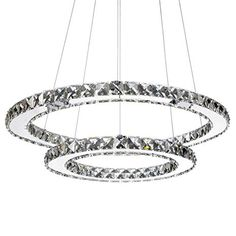 Best Choice Products Crystal Eclipse Modern LED Pendant Chandelier Dining Room Ceiling Light Fixture - Silver - Very easy to use. Dining Room Ceiling Lights, Flush Ceiling Lights, Ceiling Light Fixtures, Dining Room Lighting, Ceiling Lighting, Drum Pendant, Pendant Chandelier, Best Outdoor Lighting, Farmhouse Pendant Lighting