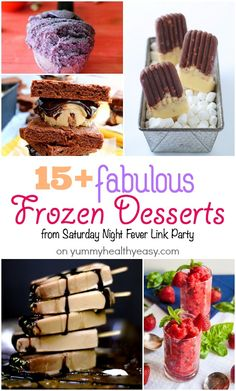 15  Fabulous Frozen Desserts you'll HAVE to try! #desserts #dessertrecipes #yummy #delicious #food #sweet