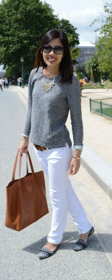 Stitch Fix: looser fit white jeans  simply chic | Em Style Bar