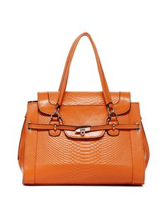 Jolinda orange leather tote by Foley & Agamo on secretsales.com