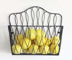 Wall Mount Storage Magazine Rack Fruit Basket
