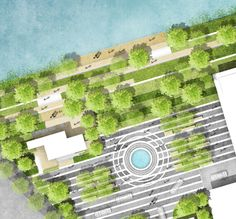 Landscape Plane, Linear Park, Landscape Architecture Design, Master Plan, Shopping Center, Urban Design, Entrance, City Photo, Stairs