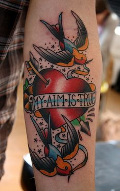 my aim is true by Myke Chambers Tattoos, via Flickr
