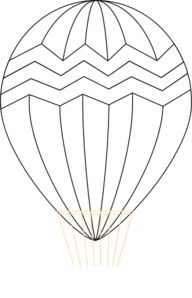 Hot Air Balloon Black And White Clip Art at Clker.com - vector ...