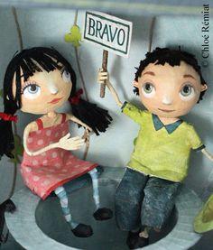 Caja Chapeau Bas muñecas OOAK por chloeremiat en Etsy