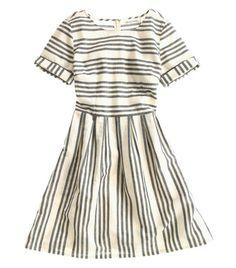 Striped Madewell dress.