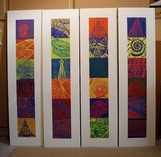 my printmaking journey: Elementary School printmaking instruction