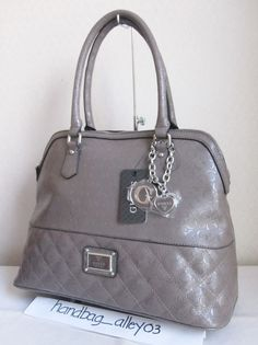 GUESS Dark TAUPE WARM WISHES SATCHEL SHOPPER Bag Handbag Purse #GUESS #Satchel