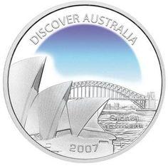 Discover Australia 2007 Sydney 1oz Silver Coin  coin , perth mint coins, bullion coins , silver  coins