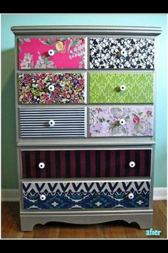 Wall paper drawers!