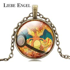 Find More Pendant Necklaces Information about LIEBE ENGEL Fashion Jewelry Pokemon Charizard Pendant Necklace Pokeball Art Picture Glass Cabochon Chain Necklace Women 2016,High Quality necklace cabochon,China cabochon stone Suppliers, Cheap cabochon collection from LIEBE ENGEL Official Store on Aliexpress.com