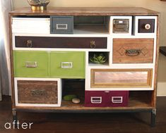 before & after: multi-drawer media console