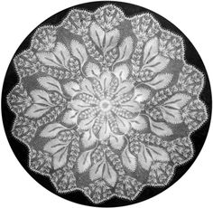 Eiche - Large Round Doily In Knitted Lace Designed By Herbert Niebling - PDF A4 (European) Paper Size