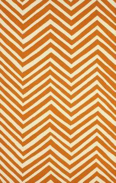 "Rugs USA Homespun Chevron orange Rug 3'6"" x 5'6"" $65"