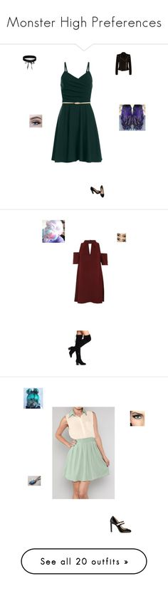 """""""Monster High Preferences"""" by maryvarleyrox ❤ liked on Polyvore featuring Boohoo, Miu Miu, Balmain, Topshop, LE3NO, Acne Studios, 2LUV, DRKSHDW, Converse and Sans Souci"""