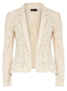 Cream lace blazer !