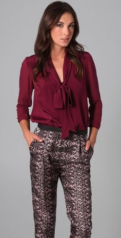 """Why does this style of shirt have to be called """"pu**y bow blouse""""? But I do love all the different ones on Shopbop"""