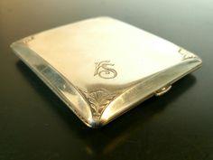 Schönes Art Deco Zigaretten Etui Alpacca mit Monogram FS   eBay