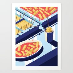 A night out in Seoul - Part 4 - Hangover Food Art Print