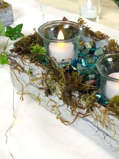 Di's Studio Designs handcrafted nature inspired decorative candleholders Summer Table Decorations, Candle Holder Decor, Candles And Candleholders, Faux Plants, Glue On Nails, Nature Inspired, Shopping Mall, Decorative Items, Waterfall