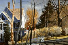 """Philip Koch, """"Equinox"""", oil on canvas, 40 x 60"""", an earlier painting from 1991."""