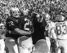 Dan Dierdorf, Don Moorhead, DIck Caldarazzo, after UM score, U-M Football vs Ohio State 1969