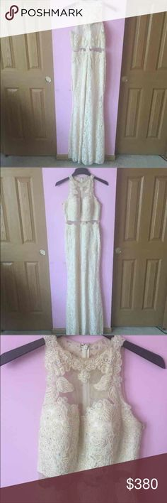 Ivory/ Cream Formal Dress 10/10 condition. Worn only once for a few hours. Originally purchased at dress boutique $450 Perfecf for prom or formal occasions Cheaper on Ⓜ️ Dresses Prom