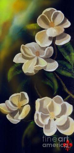 Louisiana Magnolias Painting