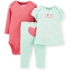 Child of Mine by Carter's Newborn Baby Swingtop 3 Piece Set