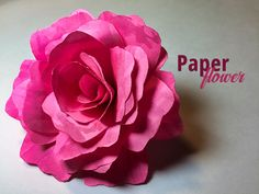 How to Make a Paper Flower   Try It - Like It - Create it