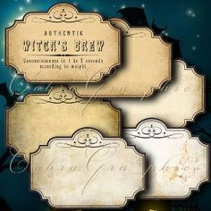 HALLOWEEN Haunted Apothecary Labels - Digital Collage Sheet... | review | Kaboodle