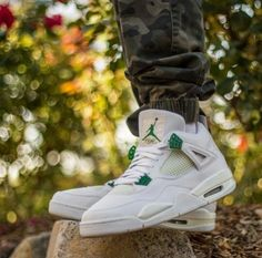 """Air Jordan 4 """"White/Chrome-Classic Green"""""""
