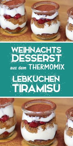 Gingerbread Tiramisu - Quick & easy Christmas dessert from the Thermomix., This Christmas Dessert Recipe for Gingerbread Tiramisu is made super easy and fast. You can prepare it great. It even tastes better if you prepare it . Mini Desserts, Christmas Desserts Easy, Easy Desserts, Bon Dessert, Dessert Bread, Tiramisu Dessert, Cheesecake Recipes, Cookie Recipes, Dessert Recipes