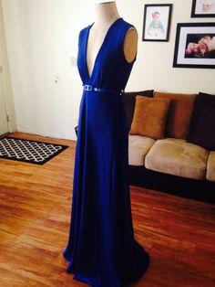 Blue gown by Oseas Villatoro
