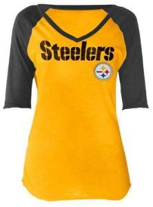 4c6412a6 Pittsburgh Steelers Women's Touch Riviera Gold T-Shirt Pittsburgh Steelers  Jerseys, Pittsburgh Sports,