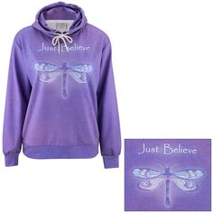Just Believe Dragonfly Lightweight Pullover Hoodie at The Animal Rescue Site