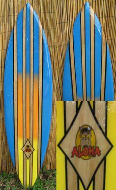 Aloha Decorative Surfboard Surf Wall Art  Surfboard decor, beach decor, surfer, decorative surfboard wall art