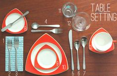 How To: Properly Set Your Table - Oh So Lovely Vintage Blog