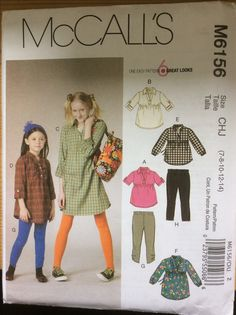 McCalls 6165 tops, dresses and leggings