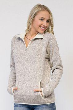 2421250de590 Heathered Fleece Pullover