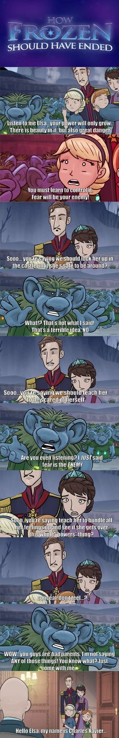 How Frozen should have ended. So much better. -D