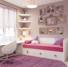 Home Room Design, Room, Home Office Decor, Room Design, Bedroom Design, Bedroom Diy, Home Decor, Girl Room, Childrens Room Furniture